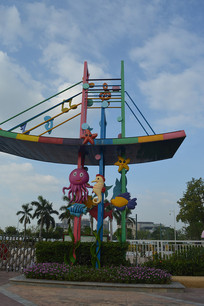 广州儿童公园动物雕塑