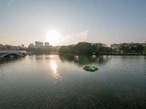 夕阳下的惠州西湖景观