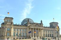 欧洲德国柏林市的国会大厦