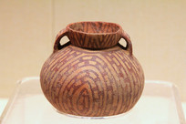 齐家文化圆底陶罐