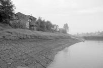 铜陵长江江心洲的古村和悦村
