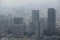 雾霾浦西高楼