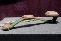青玉三镶芙蓉石寿字八宝纹如意