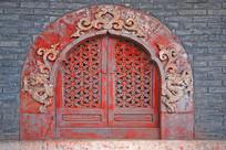 北京八大处四处大悲寺雕花窗户