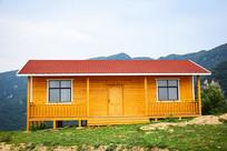 木质别墅建筑摄影