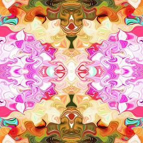 丝巾数码印花花型