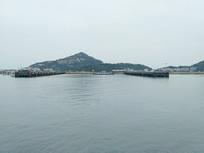 山清水秀的港口风景