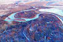 内蒙古呼伦贝尔冬季扎敦河风光