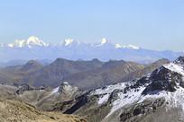 青藏高原雪山山峰