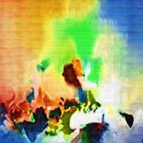 电分抽象油画