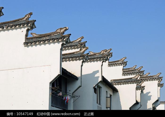 南京夫子庙徽派马头墙特写