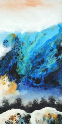水墨抽象艺术壁画