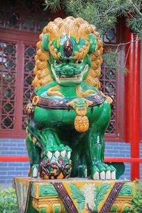 石雕绿釉石雕