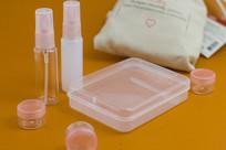 粉色万能化妆瓶透明套盒
