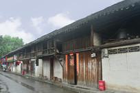元通古镇街道的老式川西民居
