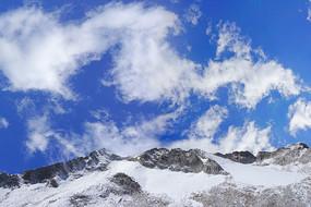 四川黑水达古冰山的冰山雪峰
