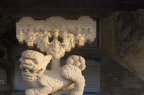 桁条柱顶石狮石雕