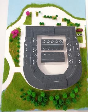 別墅庭院建筑模型