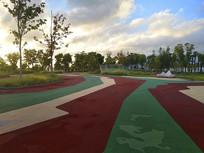 夕阳天空公园绿地
