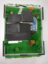 中式建筑模型俯拍