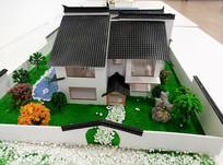 中式宅院建筑模型大门