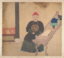 清代生活场景人物肖像画