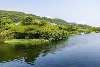中国浙江舟山普陀山西山湖面风光