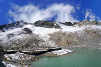 阿坝达古冰川雪山湖泊