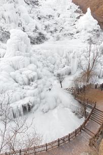 俯拍北京神泉峡风景区