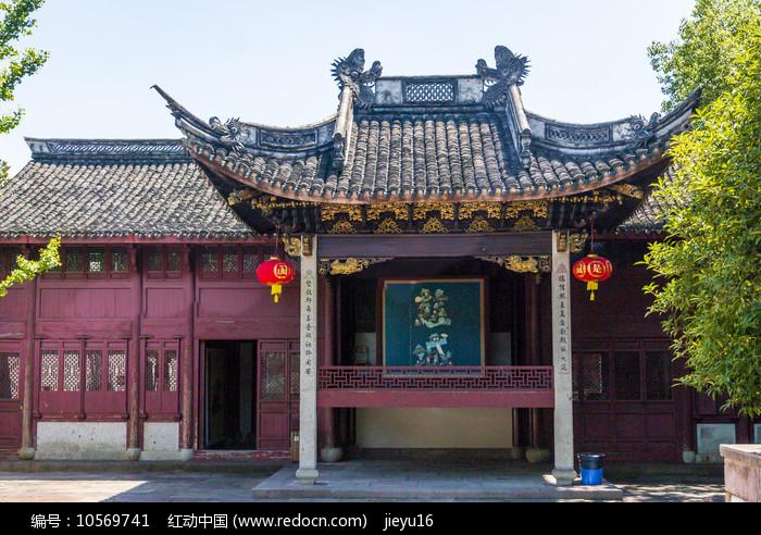 宁波慈城城隍庙戏台建筑图片