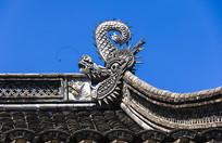 宁波慈城城隍庙硬山顶正脊龙