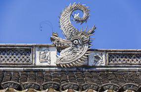 城隍庙硬山顶正脊图案