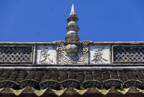 慈城城隍庙硬山顶正脊图案