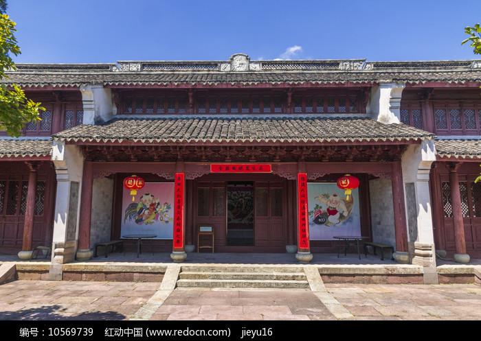 宁波慈城城隍庙重檐硬山顶大殿图片