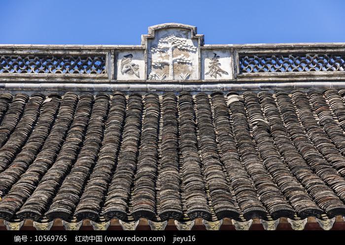 慈城火神庙硬山顶正脊图案图片