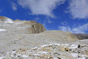 四川达古冰川荒野冰蚀地貌