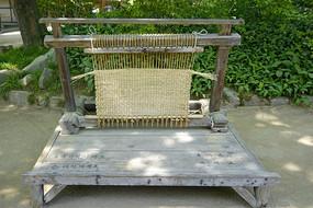 韩国民俗村民间工艺草垫编织