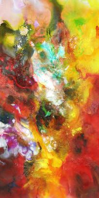 流彩水墨艺术壁画