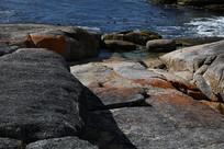 澳洲海边红岩石