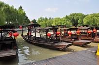 江南水乡小船