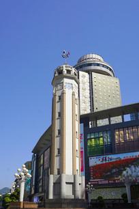 重庆解放碑CBD商圈城市风光