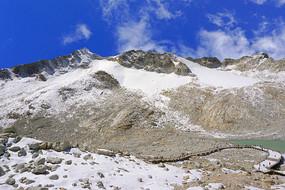 阿坝达古冰川景区及观景栈道