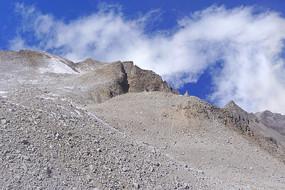 阿坝达古冰山冰蚀荒芜山脊