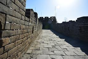 辽阔的慕田峪长城城墙