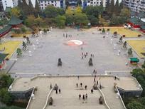 南昌滕王阁景区广场俯拍