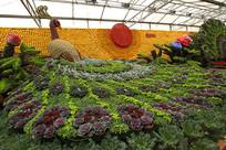 寿光菜博会景观之凤凰鸟与太阳
