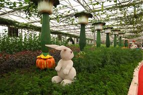 寿光菜博会景观之小白兔