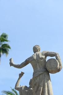 园林酒文化主题的人物雕塑
