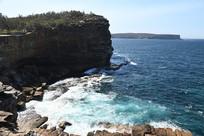 澳大利亚悉尼海湾岩石悬崖