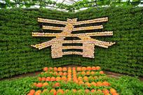 寿光菜博会景观之字体春